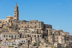 Old houses in the Italian town Matera Royalty Free Stock Photo