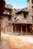 Old houses in Kathmandu, Nepal Stock Photo