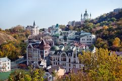 Old houses in Kyiv. Royalty Free Stock Image