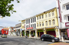 Old houses at Little India in Melaka, Malaysia Royalty Free Stock Photography