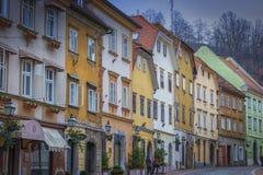 Old houses in Ljubljana Stock Images