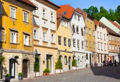 Old houses in Ljubljana, Slovenia, Europe. Royalty Free Stock Image