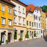 Old houses in Ljubljana, Slovenia, Europe. Royalty Free Stock Photo