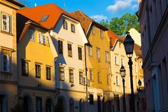 Old houses in Ljubljana, Slovenia, Europe. Stock Photos