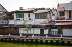 Old houses located at downtown in Melaka, Malaysia Royalty Free Stock Images
