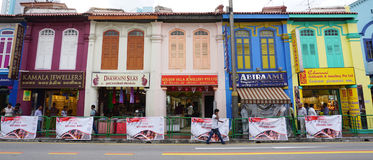 Old houses located in Melaka, Malaysia Royalty Free Stock Images