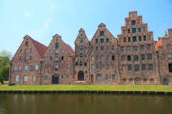 Old houses of  Lubeck. View on the old center of the Hanseatic city of Lubeck, Schleswig-Holstein, Germany Stock Photos