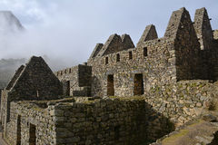 Old houses of Machu Picchu. Stock Images