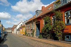 Old houses in Maribo Royalty Free Stock Image
