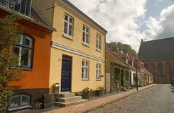 Old houses in Maribo. An old houses in Maribo Denmark royalty free stock photos