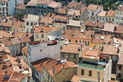 Old houses in Marseille city, France Stock Photography