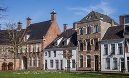Old houses at the Martinihof in Groningen Royalty Free Stock Photo