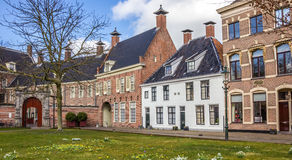 Old houses at the Martinihof in Groningen. Netherlands Royalty Free Stock Photography