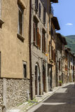 Old houses in Mastrozzi street, Leonessa Stock Photos