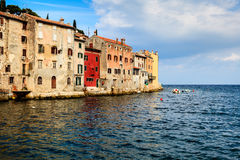 Old Houses in the Medieval City of Rovinj Royalty Free Stock Photos