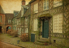 Old houses  in medieval village Royalty Free Stock Photo