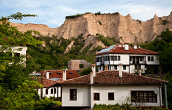 Old houses Melnik, Bulgaria Royalty Free Stock Photo