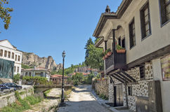 Old houses in Melnik, Bulgaria Royalty Free Stock Photography