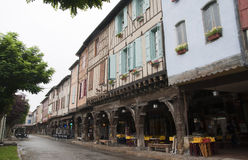 Old houses in Mirepoix France Stock Photo
