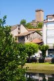 Old houses at Monforte de Lemos in summer Stock Images