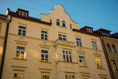 Old houses in munich city, sendling Stock Photos