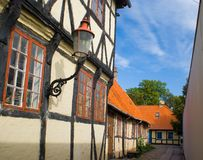 Old houses in Nakskov. An old houses in Nakskov Denmark royalty free stock images