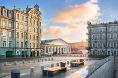 Old houses near the Manege in Moscow Royalty Free Stock Photo