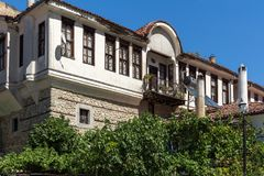 Old houses from the nineteenth century in town of Melnik, Bulgaria Royalty Free Stock Images