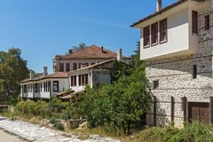 Old houses from the nineteenth century in town of Melnik, Bulgaria Stock Photo