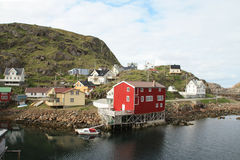 Old houses  of Nyksund Royalty Free Stock Image