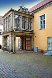 Old houses on the Old city streets. Tallinn. Royalty Free Stock Images