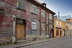 Old houses on the Old city streets. Tallinn. Eston Stock Photography