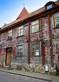 Old houses on the Old city streets. Tallinn. Estonia. Stock Photo