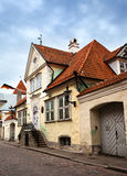 Old houses on the Old city streets. Tallinn. Estonia. Stock Photos