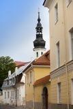 Old houses on the Old city streets. Tallinn. Estonia. Stock Photo