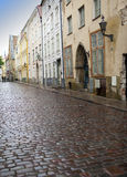 Old houses on  Old city streets. Tallinn. Estonia. Stock Photography