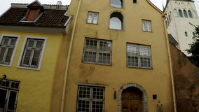 Old houses on the Old city streets. Tallinn. Estonia. Old houses on the Old city streets. Tallinn Estonia stock footage