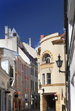 Old houses on the Old city. Tallinn. Estonia Stock Photography