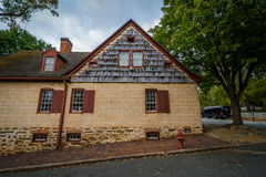Old houses in the Old Salem Historic District, in downtown Winst Royalty Free Stock Photo