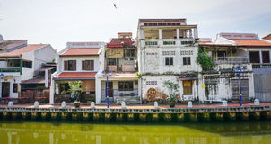 Old houses at the Old town in Melaka, Malaysia Stock Image