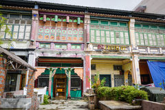 Old houses at the Old Town in Penang, Malaysia Stock Photography