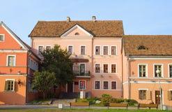 Old Houses On Embankment In Minsk, Belarus Stock Photo