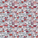 Old houses pattern Royalty Free Stock Photo