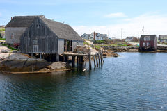 Old Houses in Peggy's Cove Royalty Free Stock Photos