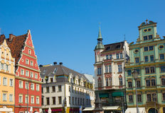 Old houses on plac Solny, Wroclaw Stock Photo