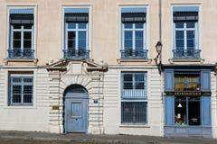 Old houses of Place Saint-Jean. LYON, FRANCE, March 19, 2018 : Old houses of Place Saint-Jean in Lyon historic center Stock Photos