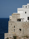 Old houses of Polignano a Mare, Italy. White and stone houses of Polignano a Mare, Italy Royalty Free Stock Image