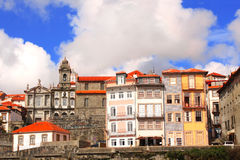 Old houses in Porto, Portugal Royalty Free Stock Photos