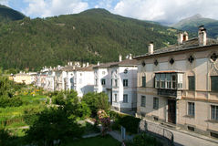 Old houses of Poschiavo Stock Photo