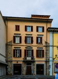 Old houses in Prato, Tuscany, Central Italy Stock Photo